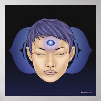 Third Eye Chakra - Infinite - 24x24' Dark Poster