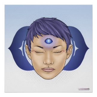 Third Eye Chakra - Infinite - 24x24' Light Poster