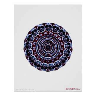Third Eye Chakra Meditation Cymatics Poster