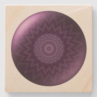 Third Eye Chakra square Stone Coaster