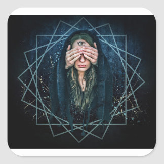 Third Eye Eye Spiritual Intuition Symbol Square Sticker