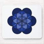 Third Eye Flower of Life Mouse Pad
