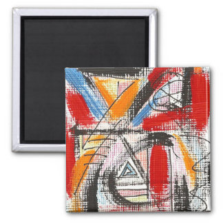 Third Eye-Hand Painted Abstract Art 2 Inch Square Magnet