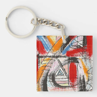 Third Eye-Hand Painted Abstract Art Keychain