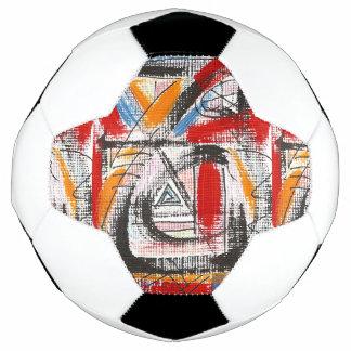 Third Eye-Hand Painted Abstract Art Soccer Ball