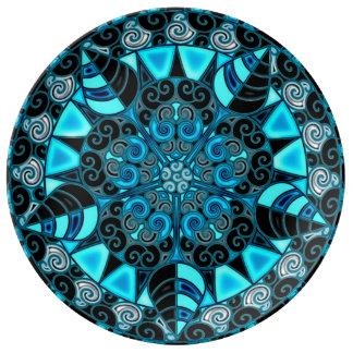 Third Eye Mandala Porcelain Plate