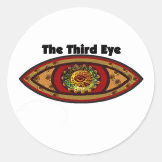 Third Eye Round Stickers
