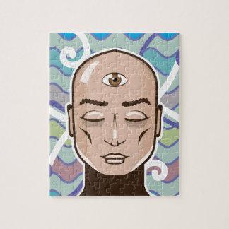 Third Eye vector Illustration Jigsaw Puzzle