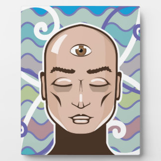 Third Eye vector Illustration Plaque