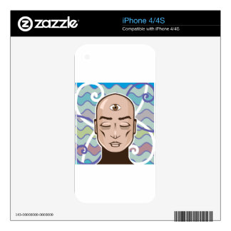 Third Eye vector Illustration Skin For The iPhone 4S
