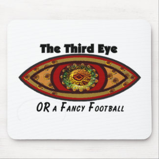 Third Eye - White Print with Caption by Manda Mouse Pad
