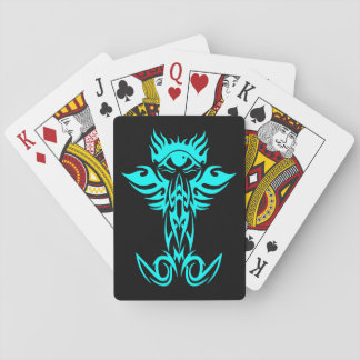 Third eye with wings cyan deck of cards