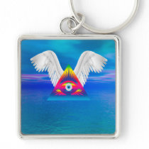 Third Eye with Wings Keychain