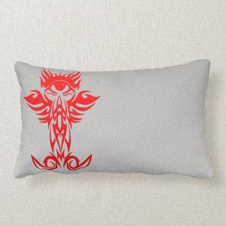 Third eye with wings red lumbar pillow