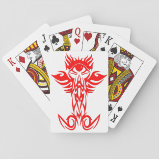 Third eye with wings red poker cards