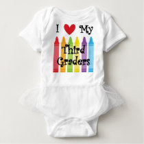 Third grade teacher baby bodysuit