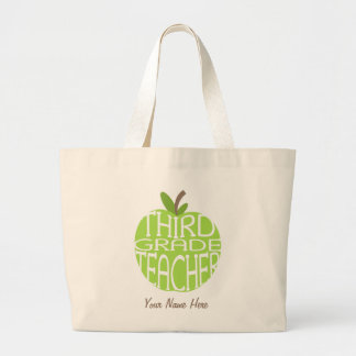 Third Grade Teacher Bag - Green Apple