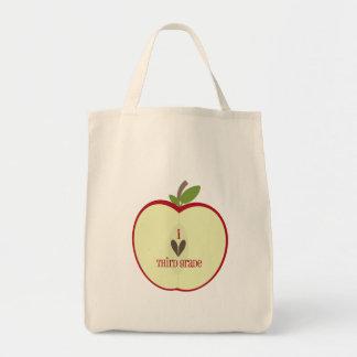 Third Grade Teacher Bag - Red Apple Half