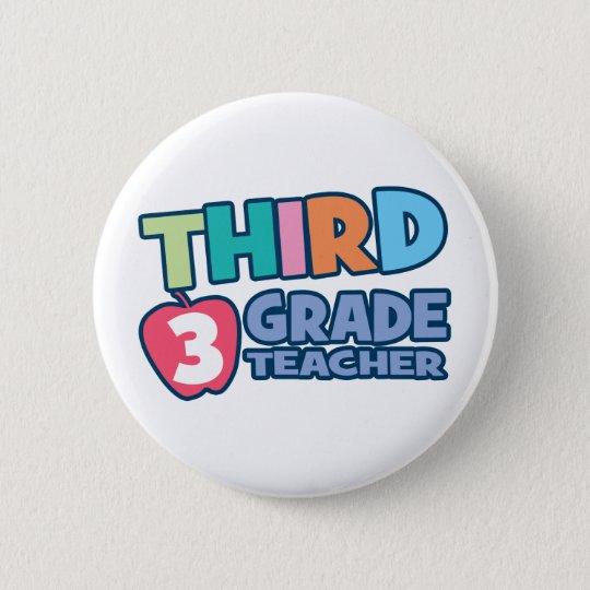 Third Grade Teacher Button