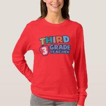 Third Grade Teacher Ladies Long Sleeve T-Shirt