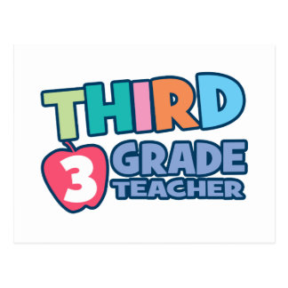Third Grade Teacher Postcard