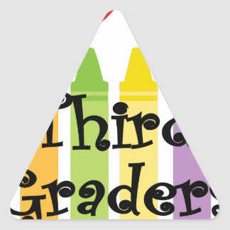 Third grade teacher triangle sticker