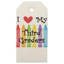 Third grade teacher wooden gift tags