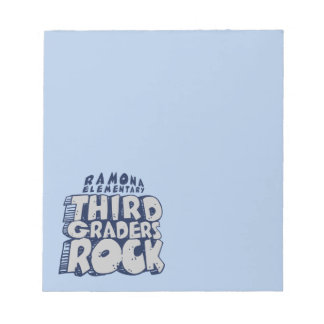 """Third Graders Rock - 5.5"""" x 6"""" Notepad - 40 pages"""
