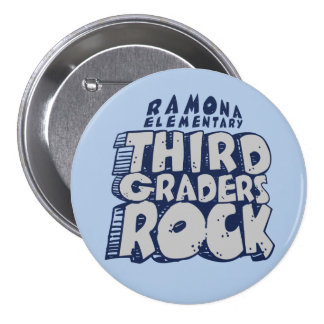 Third Graders Rock - Large, 3 Inch Round Button