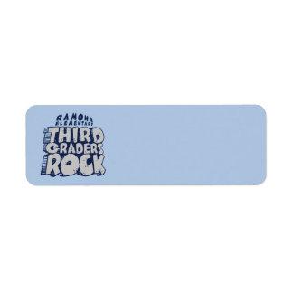 Third Graders Rock - Teacher Labels