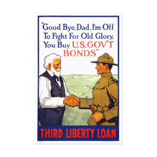 Third Liberty Loan Vintage WWI Poster Restored Canvas Print