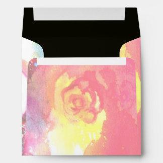 THIRD MASK ,detail  pink red yellow Envelopes