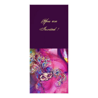 THIRD MASK masquerade ball ,gold red yellow blue Personalized Invites