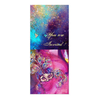 THIRD MASK masquerade ball ,gold red yellow blue Personalized Invite