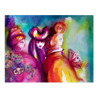 THIRD MASK / Venetian Masquerade Postcard