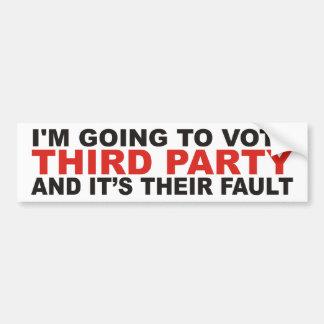 Third Party Bumper Sticker