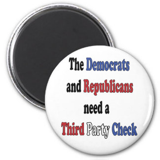 Third Party Check T-Shirt 2 Inch Round Magnet