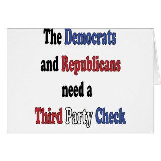 Third Party Check T-Shirt Greeting Card
