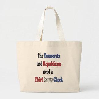 Third Party Check T-Shirt Jumbo Tote Bag