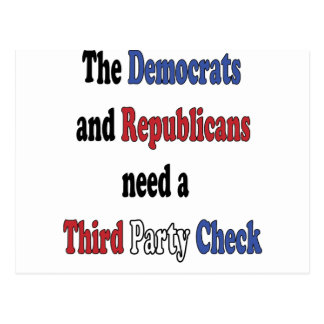 Third Party Check T-Shirt Postcard