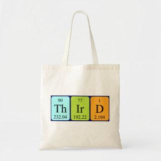 Third periodic table name tote bag