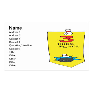 Third Place Bowling Ribbon Business Card