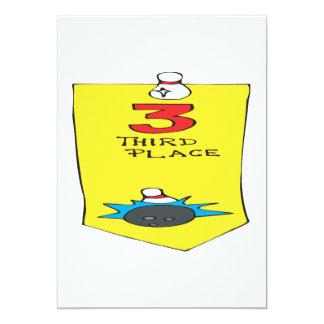 Third Place Bowling Ribbon Card