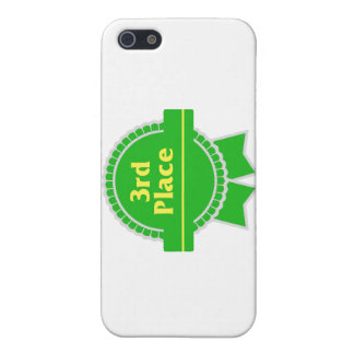 Third Place Green & Gold Ribbon Case For iPhone SE/5/5s
