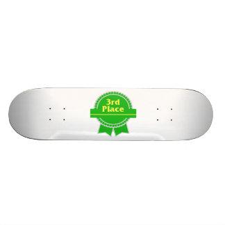 Third Place Green & Gold Ribbon Skateboard