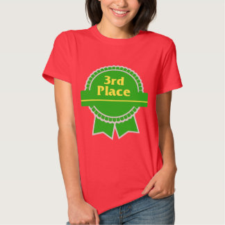 Third Place Green & Gold Ribbon Tee Shirt