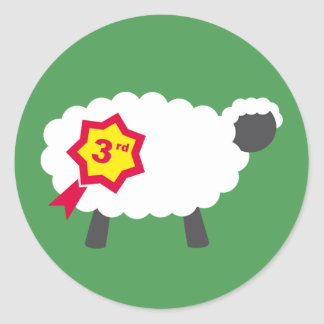 Third Place Sheep Stickers