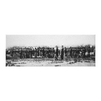 Third Regiment Infantry Civil War Colored Troops Canvas Print