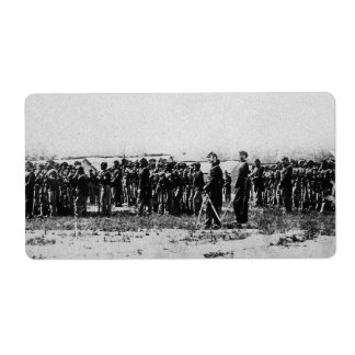 Third Regiment Infantry Civil War Colored Troops Label