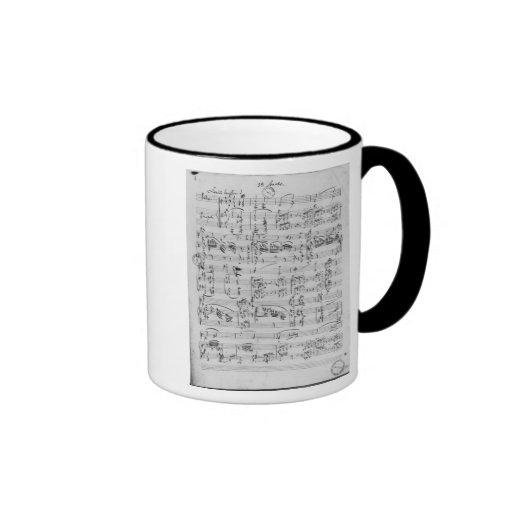 Third Sonata for piano and violin Coffee Mugs
